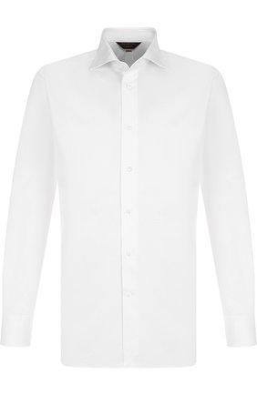 Мужская хлопковая сорочка с воротником кент ZEGNA COUTURE белого цвета, арт. 402037/9NS0RI | Фото 1