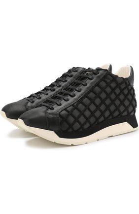 Кожаные кроссовки Alida на шнуровке Manuel Barcelo черные   Фото №1