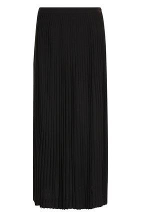 Плиссированная юбка-миди из шерсти | Фото №1