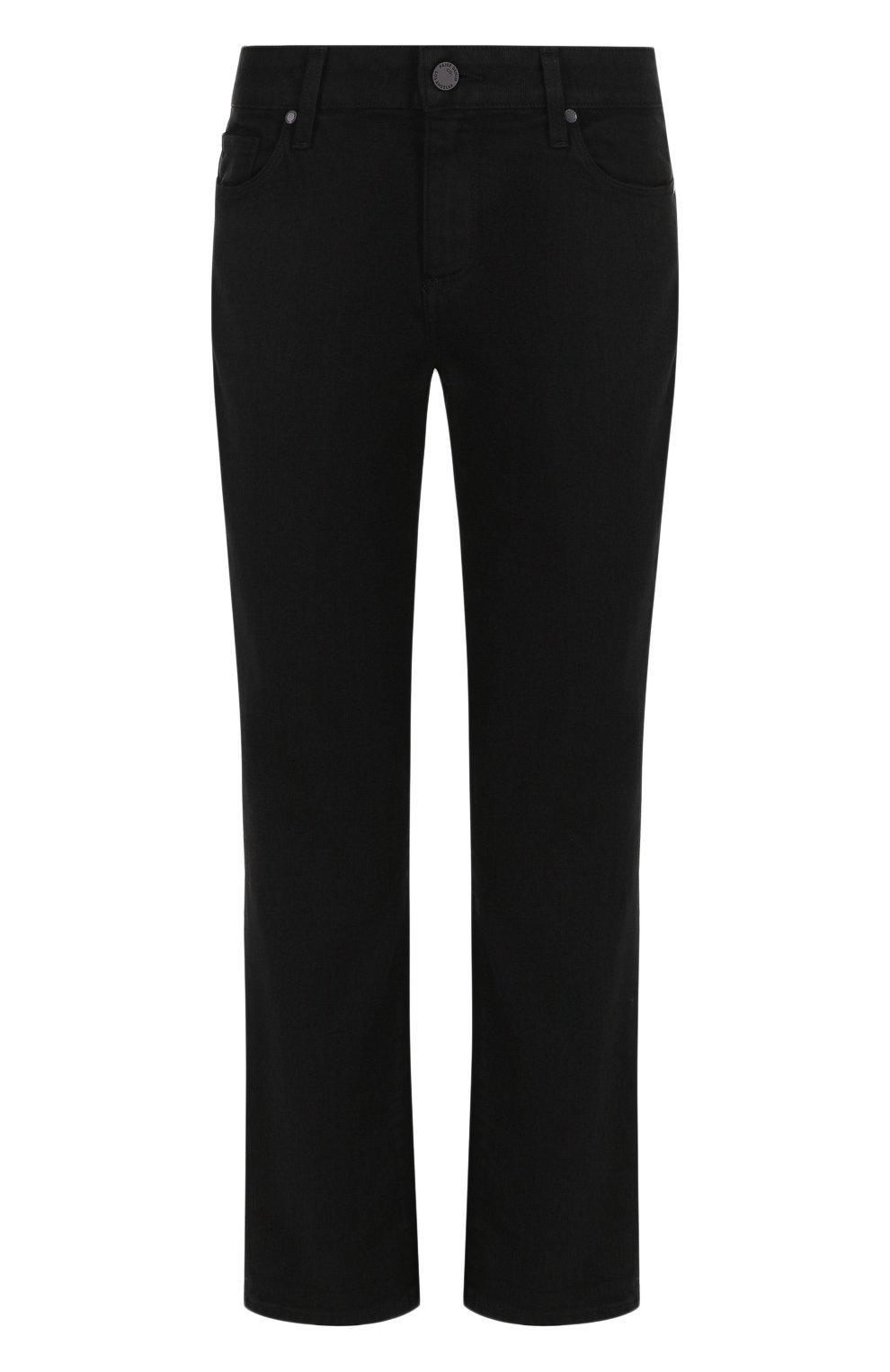 Укороченные однотонные джинсы | Фото №1