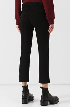 Укороченные однотонные джинсы | Фото №4