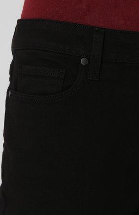 Укороченные однотонные джинсы | Фото №5