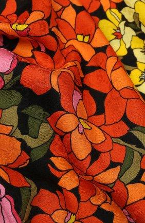 Шерстяная шаль с цветочным принтом | Фото №2