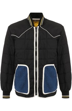 Стеганая куртка на молнии с воротником-стойкой   Фото №1
