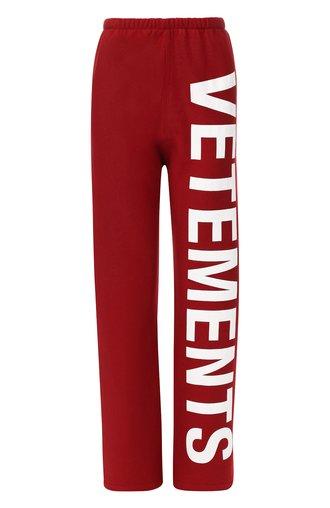 Хлопковые брюки с логотипом бренда