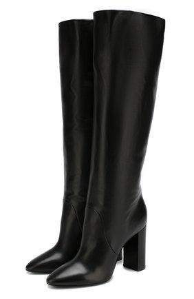 Кожаные сапоги Lou на устойчивом каблуке | Фото №1