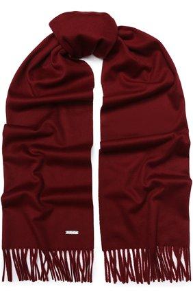 Мужской шерстяной шарф с бахромой LORO PIANA бордового цвета, арт. FAA2448/VVIC | Фото 1