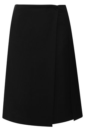 Шерстяная юбка со складками Burberry черная   Фото №1