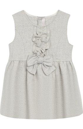 Платье с оборками Aletta светло-серого цвета   Фото №1