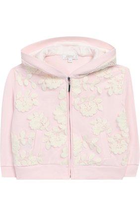 Комплект из брюк с кардиганом и футболкой Aletta светло-розового цвета   Фото №1