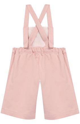 Детский хлопковый комбинезон ALETTA розового цвета, арт. RW888304/1M-18M | Фото 2
