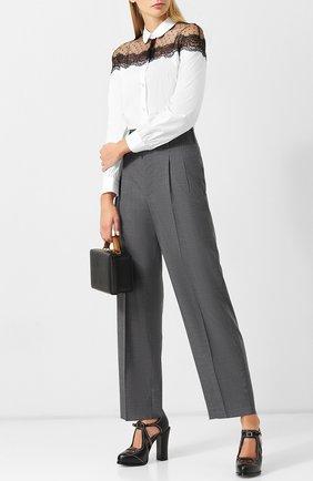 Шерстяные брюки со стрелками Golden Goose Deluxe Brand серые | Фото №1