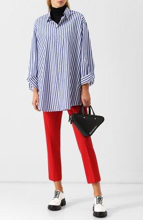 Женская блуза свободного кроя в полоску Junya Watanabe, цвет белый, арт. JB-B002-051 в ЦУМ | Фото №1