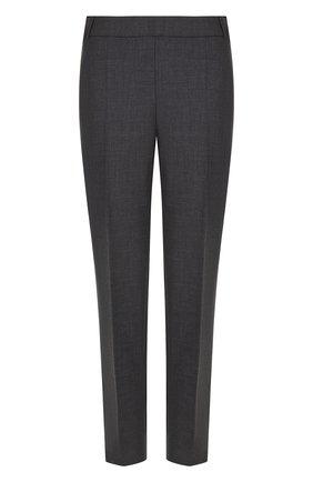 Укороченные брюки с контрастными лампасами | Фото №1