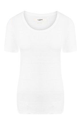 Женская льняная футболка ISABEL MARANT ETOILE белого цвета, арт. TS0378-00M004E/KILIANN   Фото 1