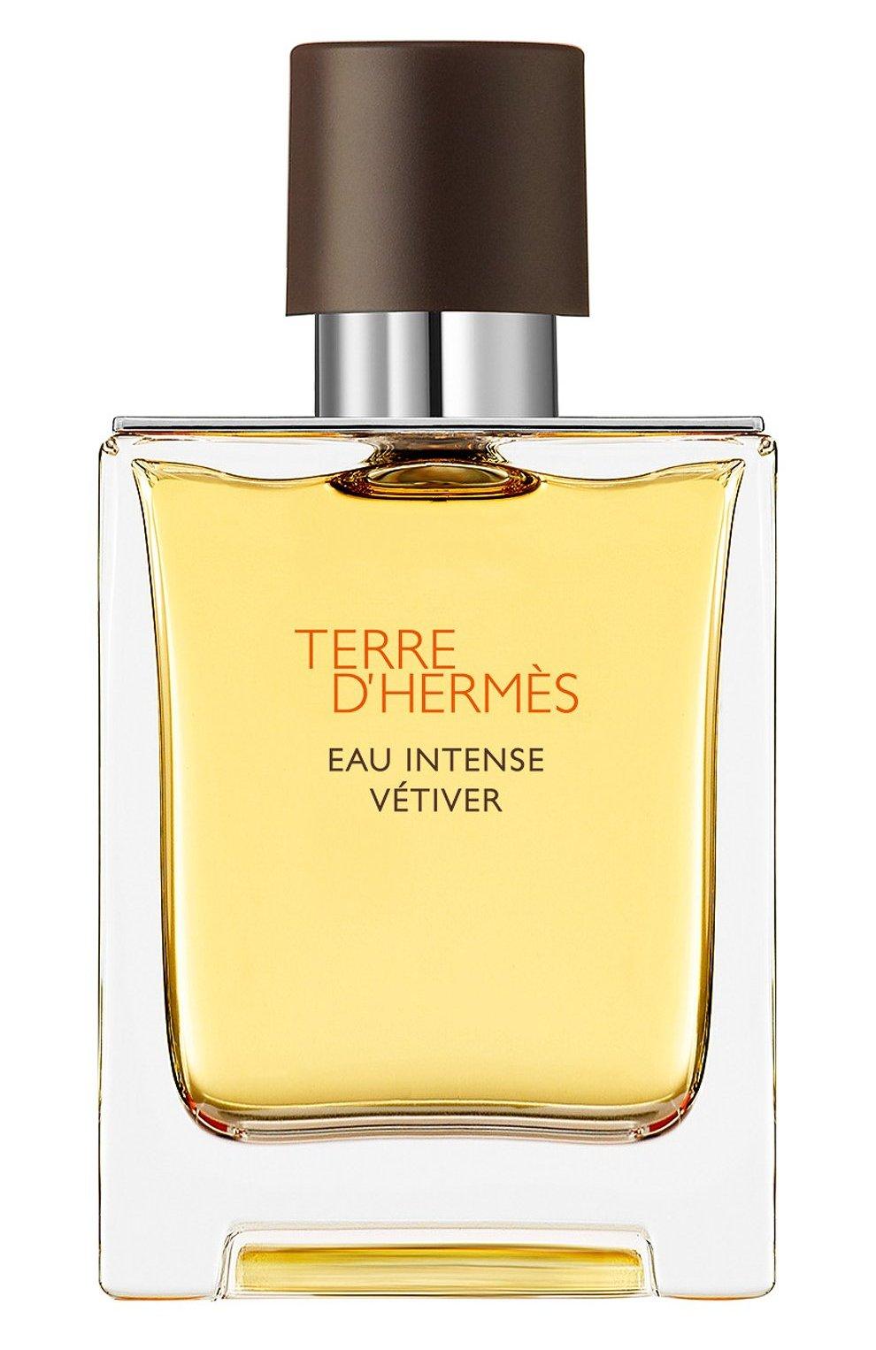Мужской парфюмерная вода terre d'hermès eau intense vétiver HERMÈS бесцветного цвета, арт. 40945H | Фото 1