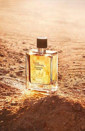 Мужской парфюмерная вода terre d'hermès eau intense vétiver HERMÈS бесцветного цвета, арт. 40945H | Фото 2