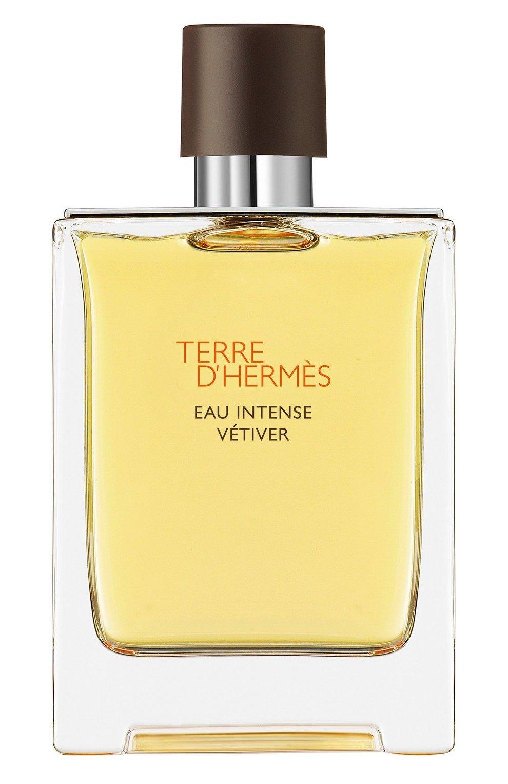 Мужской парфюмерная вода terre d'hermès eau intense vétiver HERMÈS бесцветного цвета, арт. 40946H   Фото 1 (Статус проверки: Проверена категория; Ограничения доставки: flammable)
