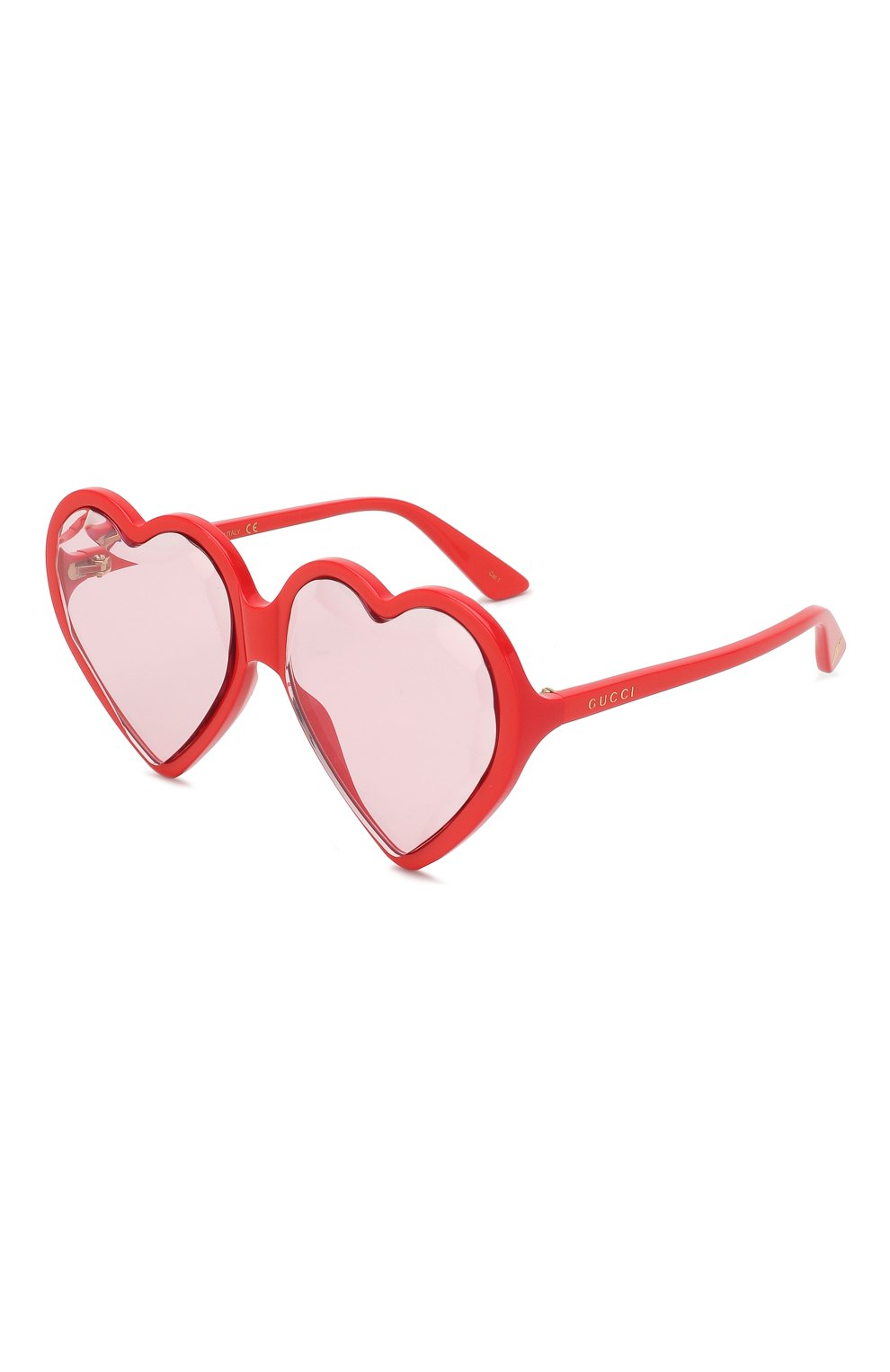 Женские солнцезащитные очки GUCCI красного цвета, арт. GG0360 005 | Фото 1