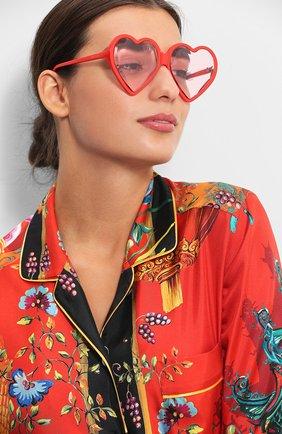 Женские солнцезащитные очки GUCCI красного цвета, арт. GG0360 005 | Фото 2