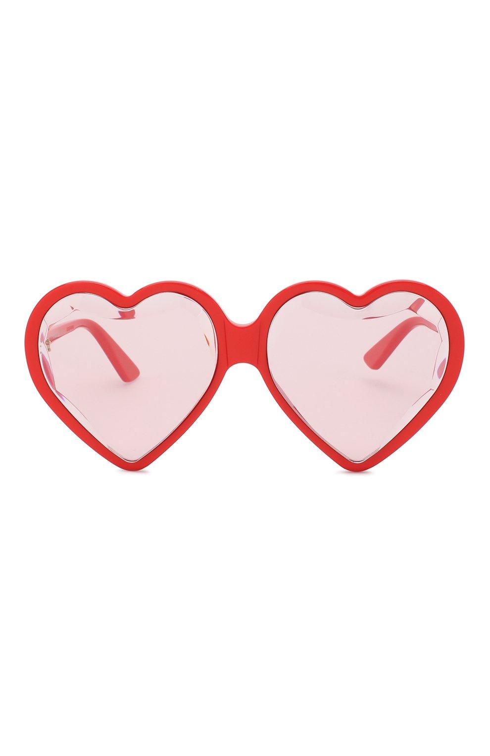 Женские солнцезащитные очки GUCCI красного цвета, арт. GG0360 005 | Фото 3