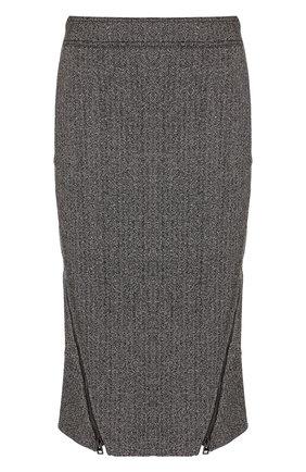 Юбка-карандаш из смеси шерсти и шелка | Фото №1