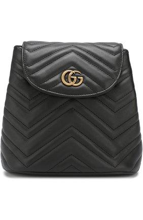 Женский рюкзак gg marmont  GUCCI черного цвета, арт. 528129/DRW4T | Фото 1