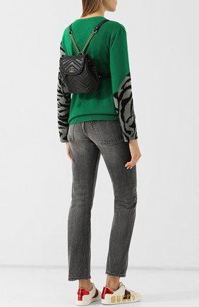 Женский рюкзак gg marmont  GUCCI черного цвета, арт. 528129/DRW4T | Фото 2