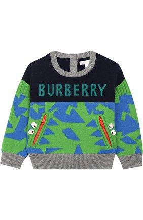 Кашемировый свитер с контрастным узором | Фото №1