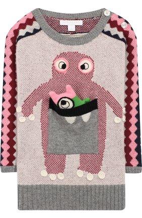 Кашемировый свитер с фактурной отделкой | Фото №1