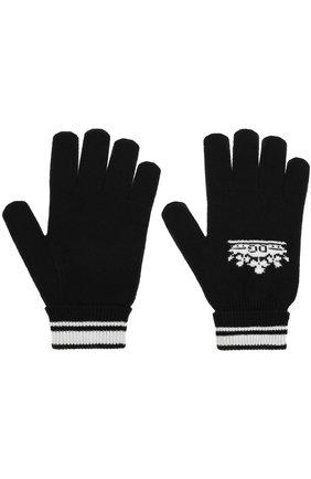 Мужские кашемировые вязаные перчатки DOLCE & GABBANA черного цвета, арт. GX366T/JAWIN | Фото 2