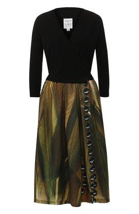 Платье-миди с принтом sara roka разноцветное | Фото №1