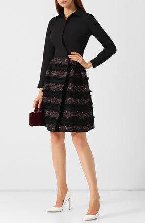 Приталенное платье с бахромой sara roka разноцветное | Фото №1
