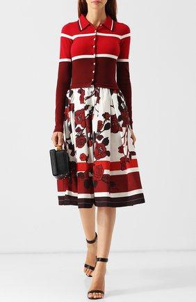 Платье-миди с принтом sara roka красное | Фото №1