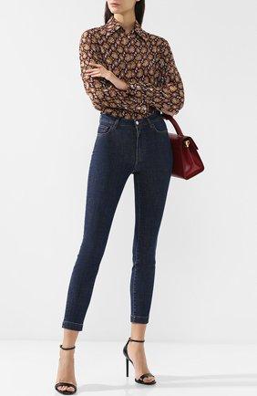 Женские джинсы DOLCE & GABBANA темно-синего цвета, арт. FTAH6Z/G981B   Фото 2