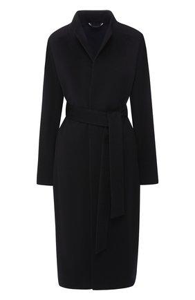 Кашемировое пальто с поясом Colombo черного цвета | Фото №1