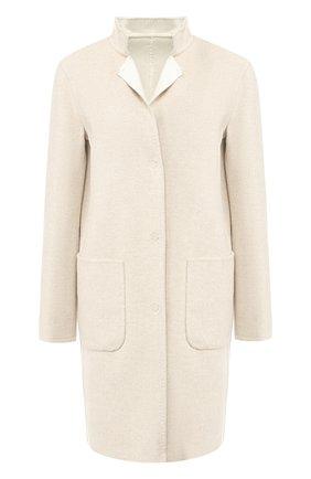 Пальто из смеси шерсти и кашемира с накладными карманами | Фото №1