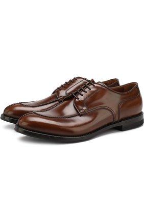 Классические кожаные дерби W.Gibbs коричневые | Фото №1