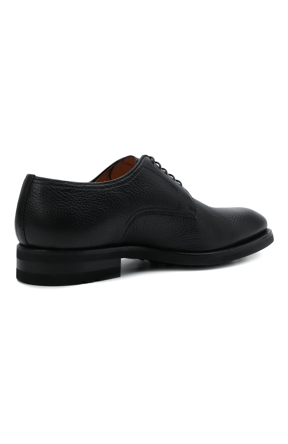 Мужские кожаные дерби MAGNANNI черного цвета, арт. 21251/RUG0ARCADE   Фото 4 (Материал внутренний: Натуральная кожа; Стили: Классический)