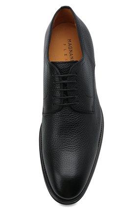 Мужские кожаные дерби MAGNANNI черного цвета, арт. 21251/RUG0ARCADE   Фото 5 (Материал внутренний: Натуральная кожа; Стили: Классический)