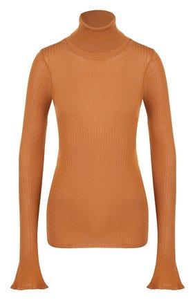 Водолазка с расклешенными рукавами Victoria Beckham оранжевая | Фото №1