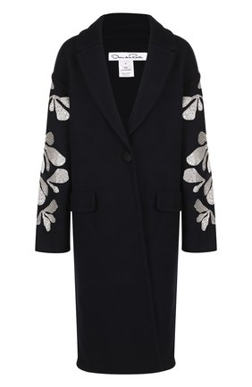 Шерстяное пальто с декоративной отделкой | Фото №1