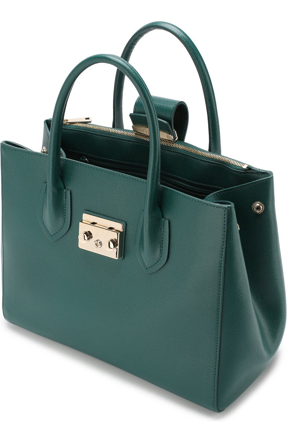 Женская сумка-тоут metropolis FURLA зеленого цвета — купить за 27500 ... 829397599fd