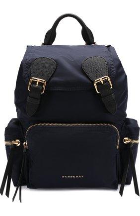 Рюкзак с отделкой из кожи | Фото №1