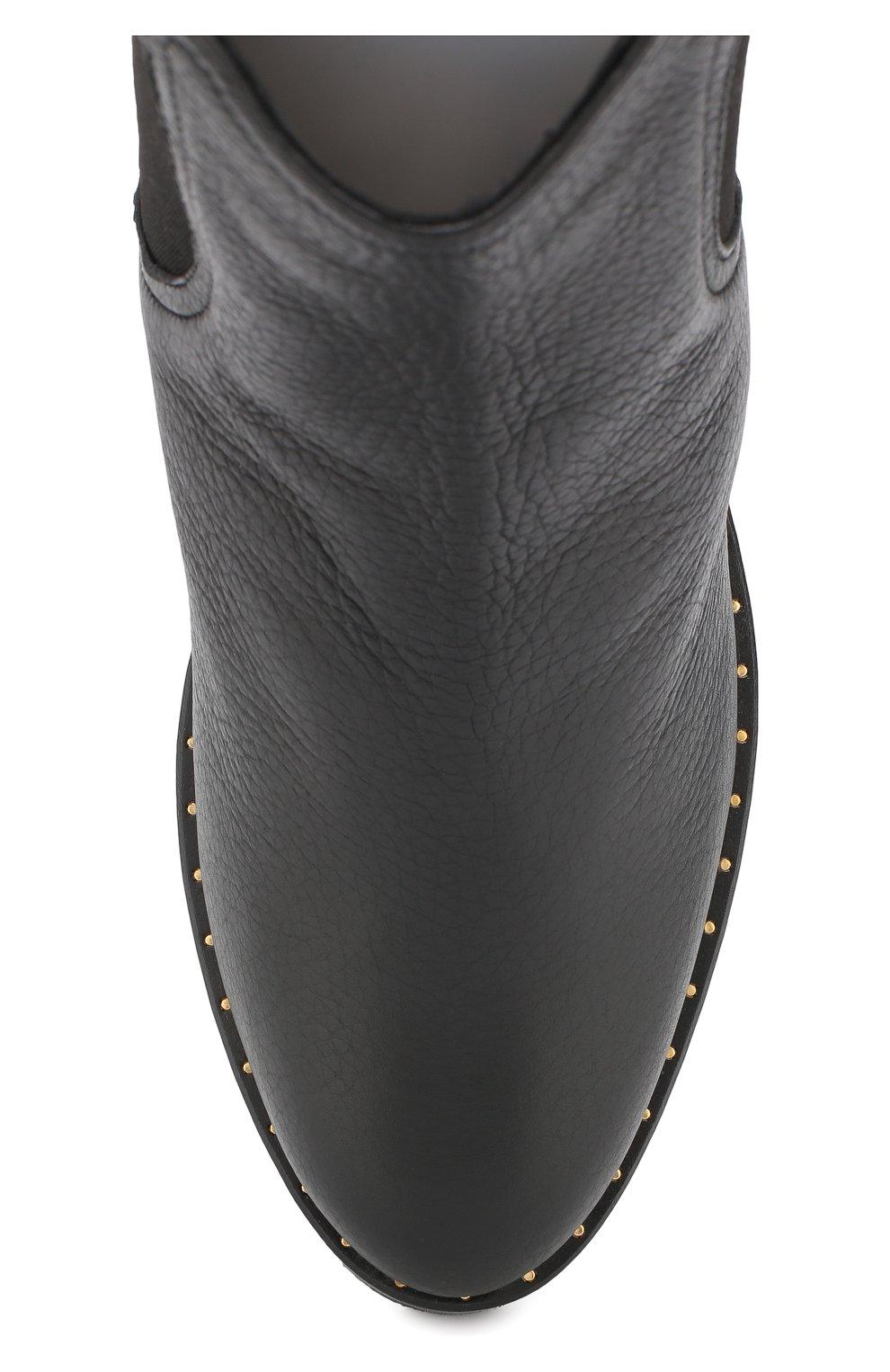 Кожаные  ботинки с внутренней отделкой из овчины Baldan черные | Фото №5