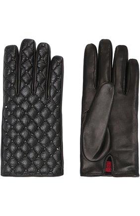 Кожаные перчатки Valentino Garavani Rockstud Spike | Фото №2