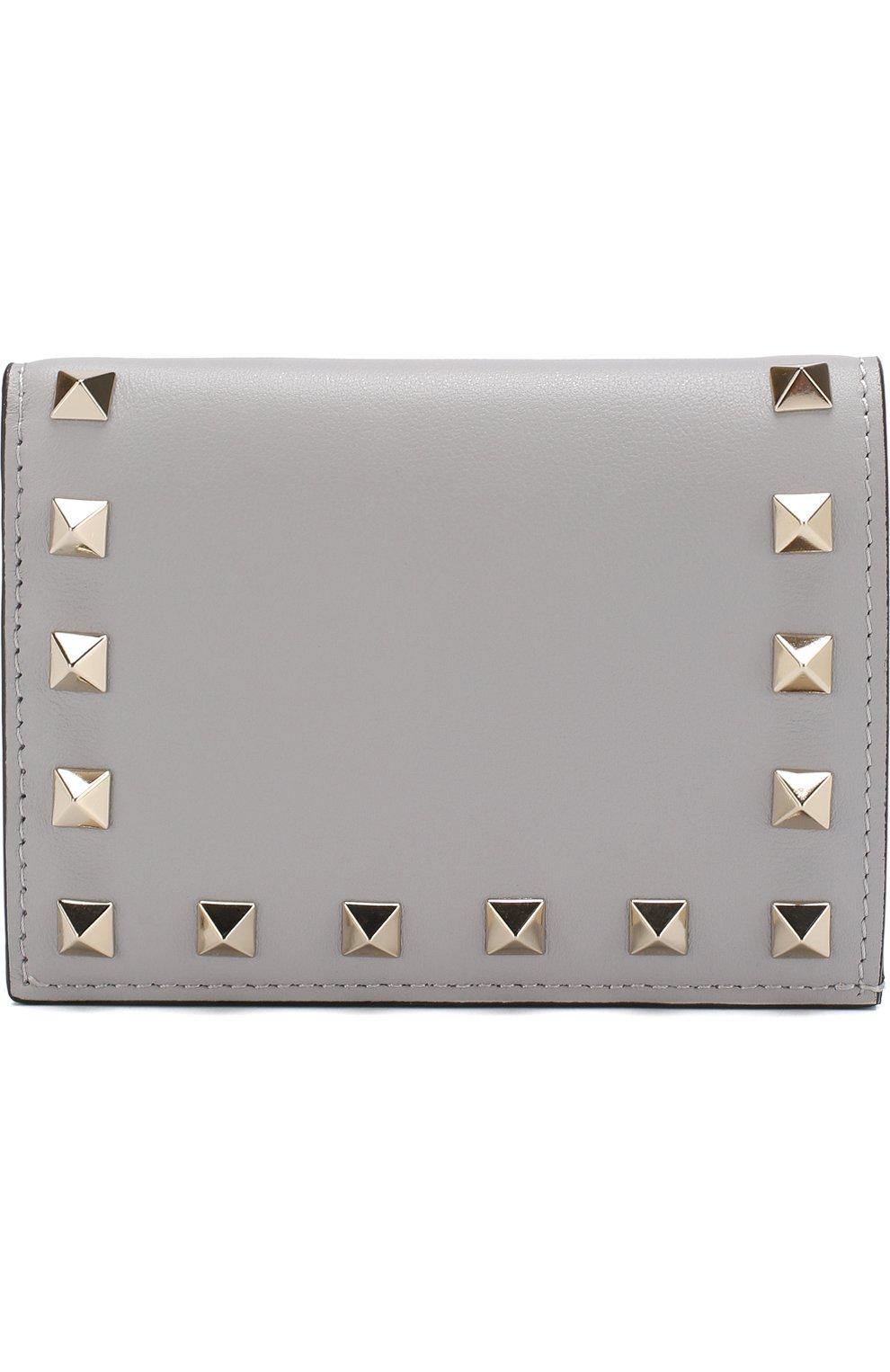 Кожаный кошелек Valentino Garavani Rockstud   Фото №1