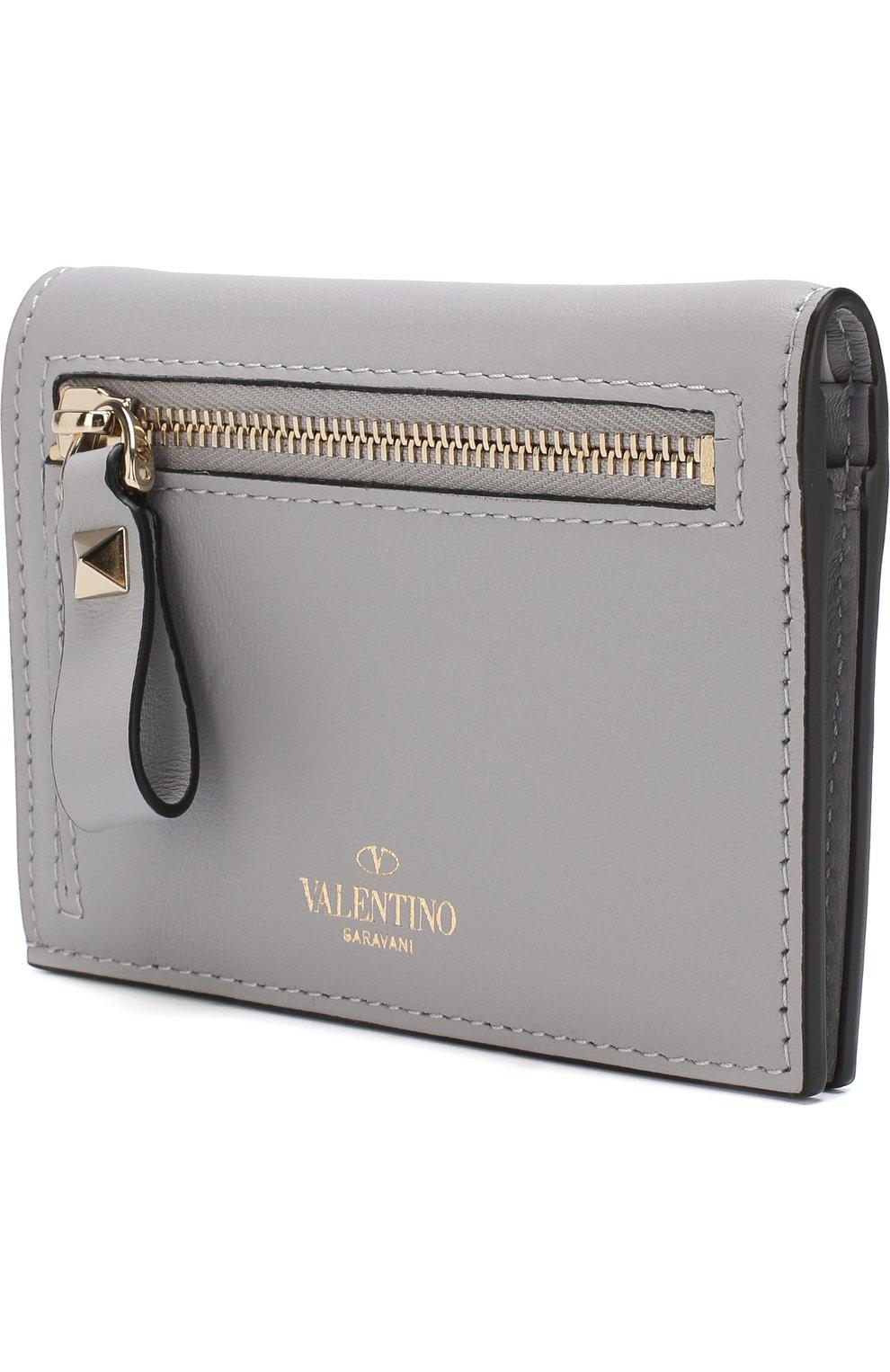 Кожаный кошелек Valentino Garavani Rockstud   Фото №2