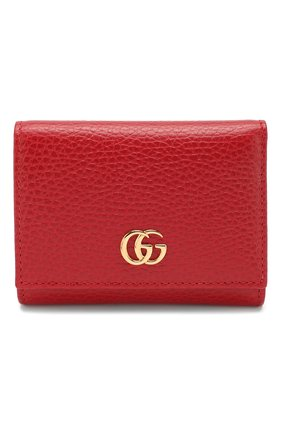 Женские кожаное портмоне GUCCI красного цвета, арт. 474746/CA00G | Фото 1
