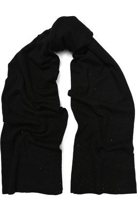 Шарф из смеси шерсти и кашемира с отделкой стразами | Фото №1